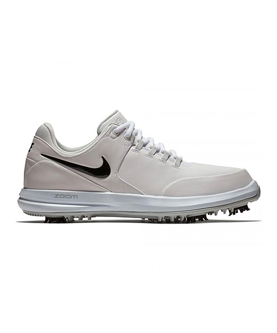 Nike Men's Golf Shoes White/Black - White & Black Air Zoom Accurate Leather Golf Shoe - Men
