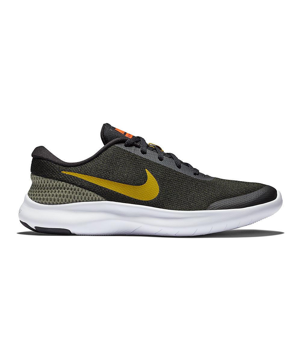 Nike Men's Running Shoes Black/Peat - Peat Moss & Sequoia Flex Experience Run 7 Running Shoe - Men