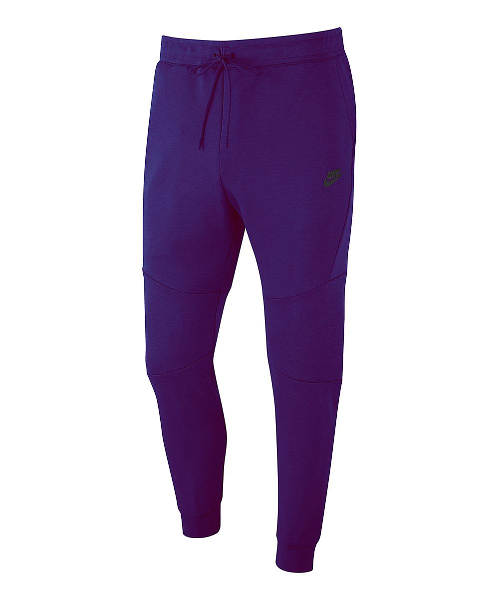 Nike Men's Active Pants Court - Court Purple Tech Fleece Joggers - Men