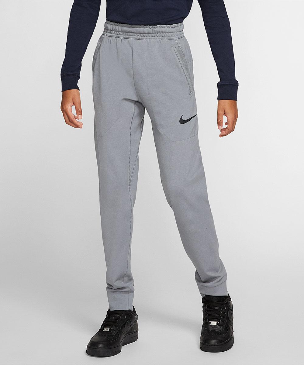 Nike Boys' Active Pants Cool - Cool Gray & Black R-T-L Joggers - Boys
