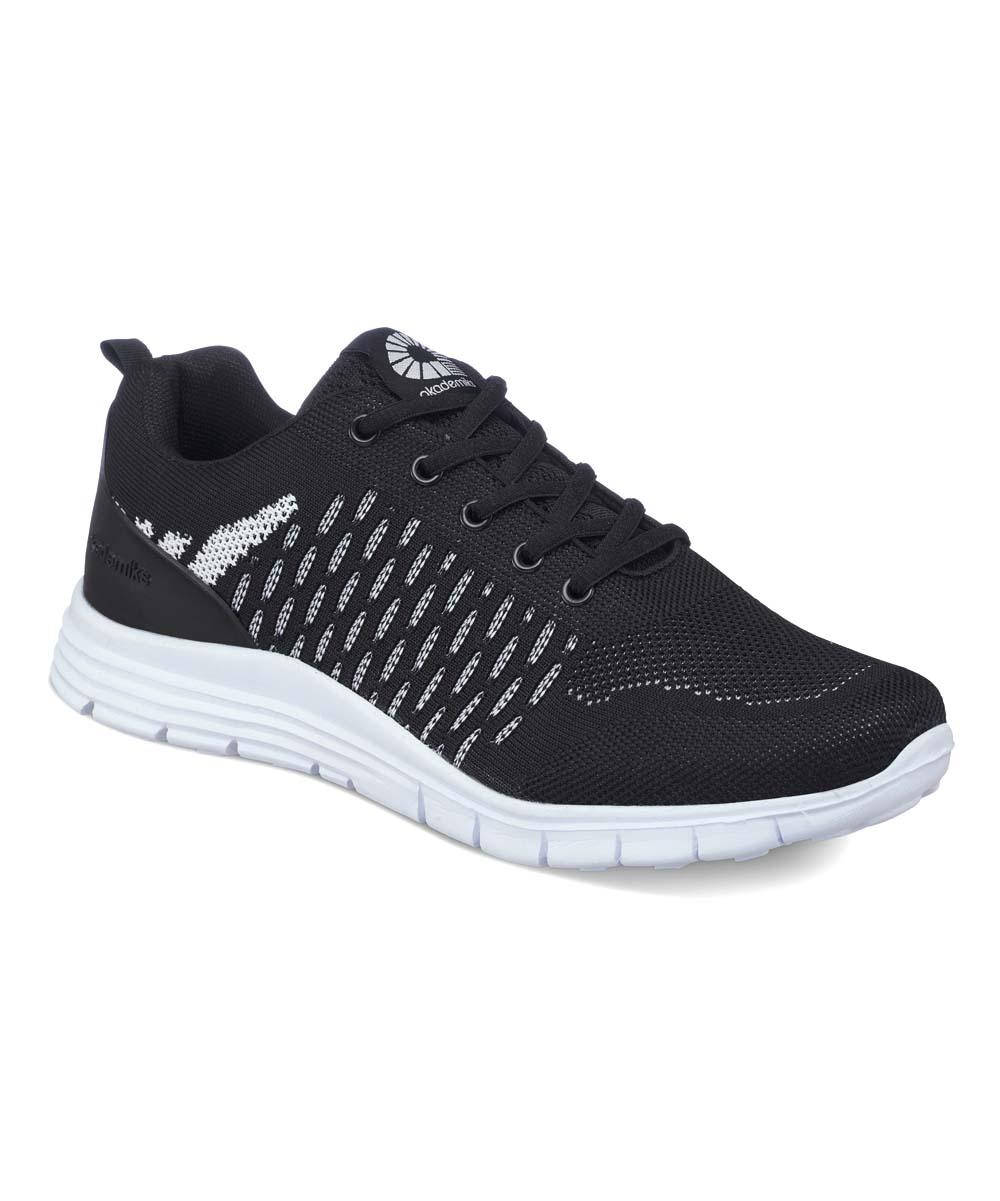 Akademiks Men's Sneakers BLACK-WHITE - Black & White Low-Top Sneakers - Men