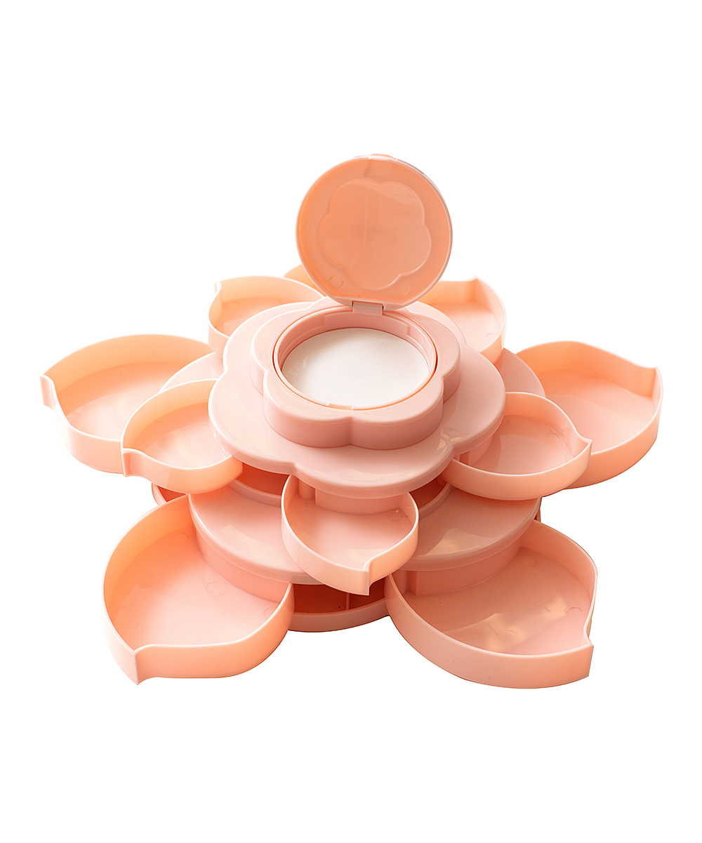 We R Memory Keepers    - Pink Mini Bloom Storage Craft Supplies Holder Pink Mini Bloom Storage Craft Supplies Holder. Keep your craft supplies organized with the help of this multi-compartmented holder that features an ornate floral design. Imported