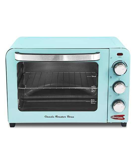 Elite  Toaster Ovens Blue - Blue Six-Slice Toaster Oven Blue Six-Slice Toaster Oven. Whether you prefer savory avocado or sweet jam, you can depend on this six-slice toaster oven to turn out perfectly browned slices ready to be topped with your favorite ingredients.17.2'' W x 9.3'' H x 10.6'' DPlasticHand washImported