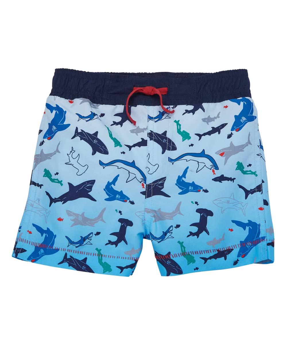 Mud Pie Baby Boys Shark Swim Trunks