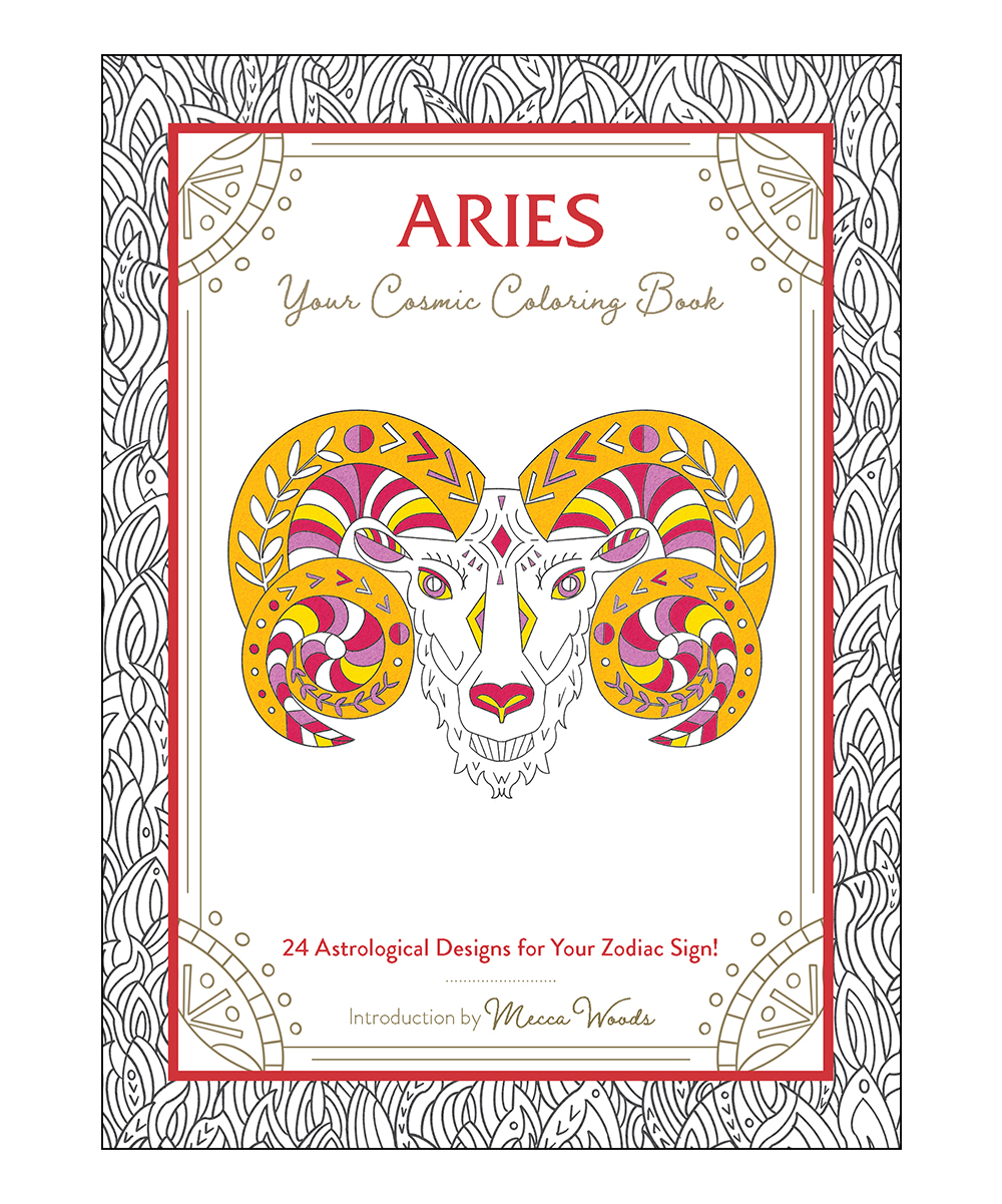 Simon & Schuster Coloring Books - Aries Cosmic Coloring Book