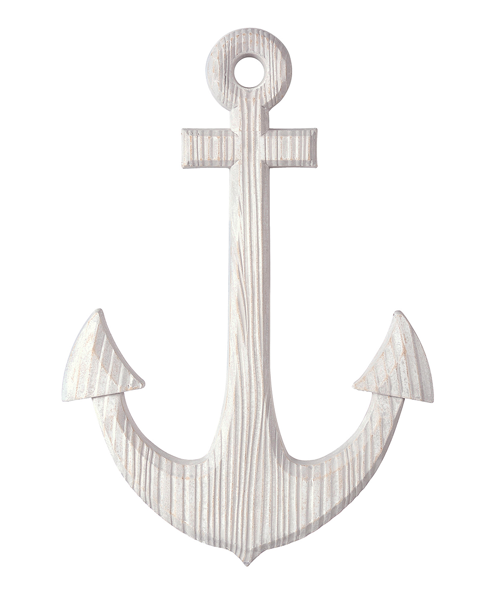 Grasslands Road  Typography Wall Decor  - Gray Anchor Hanging Decor Gray Anchor Hanging Decor. Add a nautical twist to your decor scheme by hanging this tasteful anchor decor in a prominent position. 23.25'' W x 16.5'' H x 1.13'' DMedium-density fiberboardImported