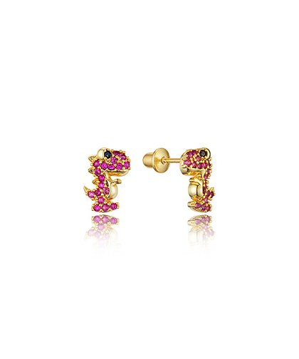 d1d375edd Lovearing Cubic Zirconia & 14k Gold-Plated Dinosaur Stud Earrings ...