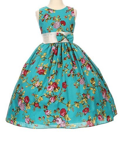 7f6fac2cf9a Teal Floral A-Line Dress - Toddler   Girls. Shanil. LSize Chart