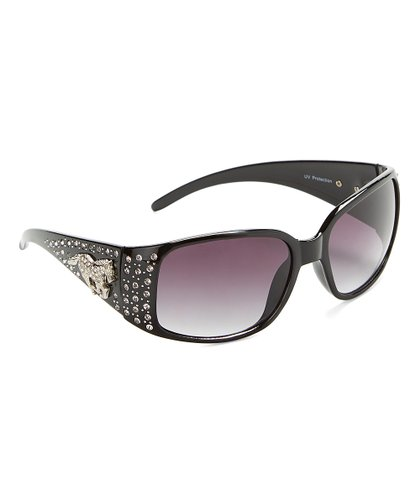 4426d5b2cc72 AWST INTERNATIONAL Black Rhinestone Horse Sunglasses | Zulily