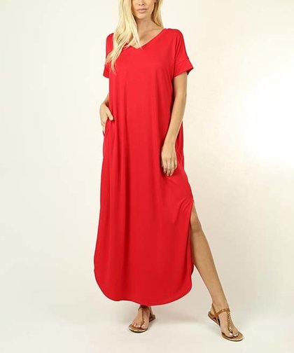 70595be213aa6 Zenana Ruby Side-Slit Maxi Dress - Women