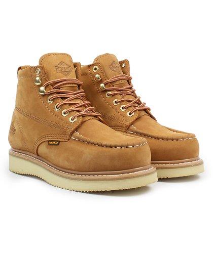 f9c6e92add1 Bonanza Boots Gold Welt Moc-Toe Leather Work Boot - Men | Zulily