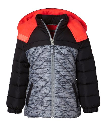 b99909f94 Pink Platinum Black   Red Tonal Active Puffer Jacket - Girls