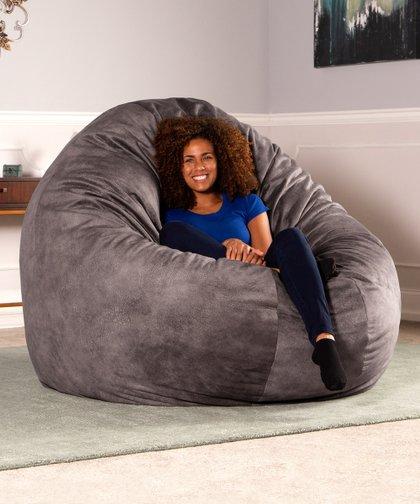 Magnificent Jaxx Bean Bags Pewter 72 Wrangler Cocoon Bean Bag Zulily Machost Co Dining Chair Design Ideas Machostcouk
