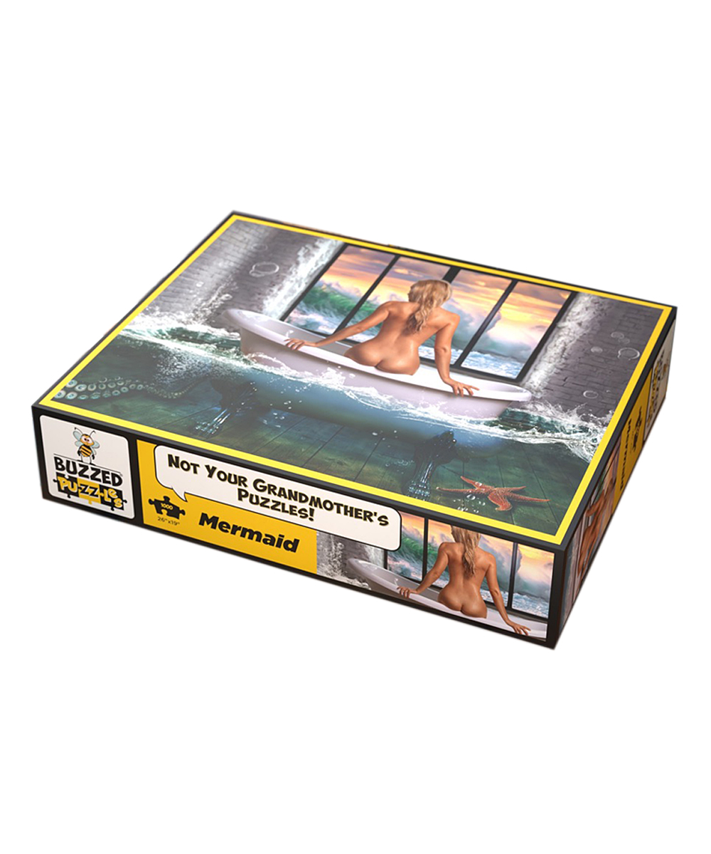What Do You Meme?  Puzzles Multi - Mermaid 1,000-Piece Puzzle Mermaid 1,000-Piece Puzzle. Have fun while stimulating your mind with this challenging 1,000-piece puzzle based off a work of art. Includes 1,000 piecesAssembled: 19'' W x 26'' HImported