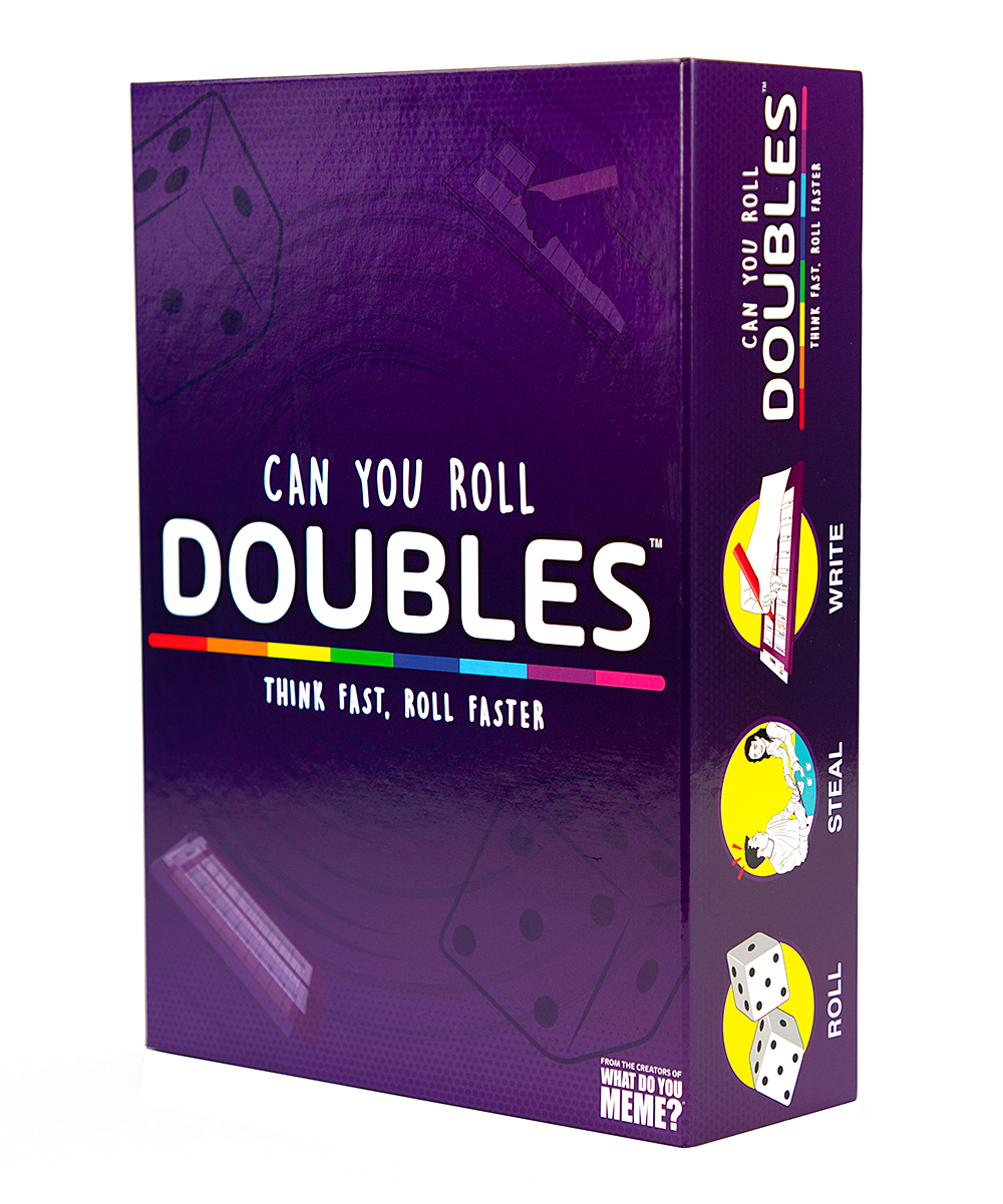 What Do You Meme?  Puzzles Multi - Doubles Dice Game Doubles Dice Game. Introduce a new activity to your family and friends game night with this fun dice game. Imported