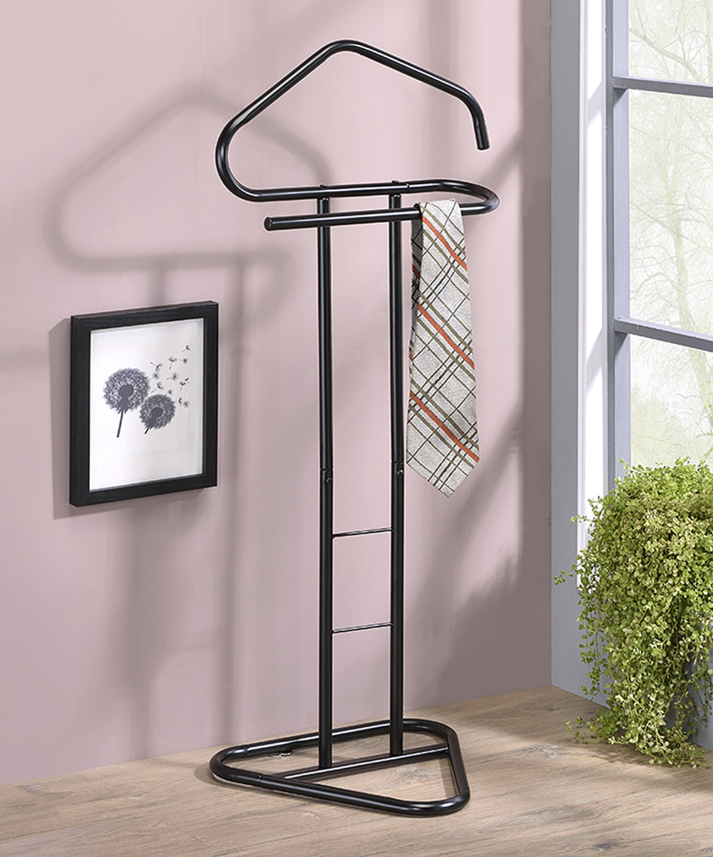 Pilaster Designs  Towel Racks Black - Black Fairview Clothing Rack Black Fairview Clothing Rack. Rejuvenate the atmosphere of your restroom when you add this clothing rack showcasing a modern silhouette complete with supportive bars to provide style and function.18'' W x 42'' H x 15.5'' DMetalAssembly requiredImported