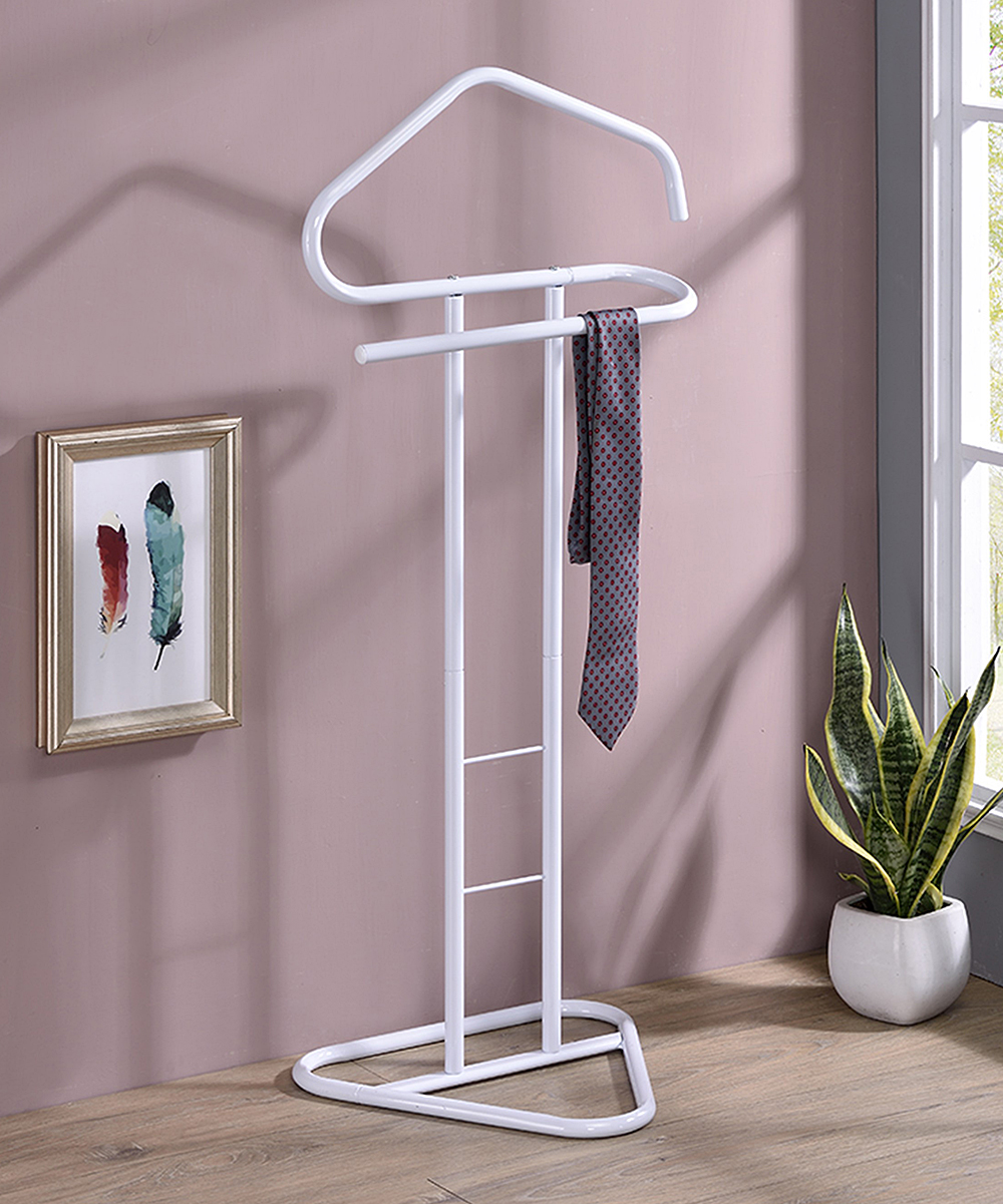 Pilaster Designs  Towel Racks White - White Fairview Clothing Rack White Fairview Clothing Rack. Rejuvenate the atmosphere of your restroom when you add this clothing rack showcasing a modern silhouette complete with supportive bars to provide style and function.18'' W x 42'' H x 15.5'' DMetalAssembly requiredImported