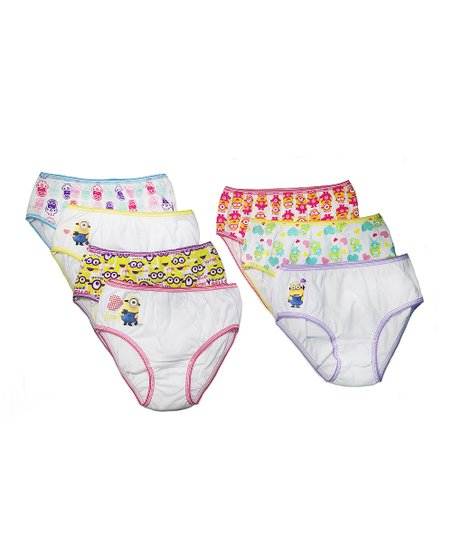 3659e34bc8f93 Despicable Me Minions Pink & White Seven-Pair Underwear Set - Toddler