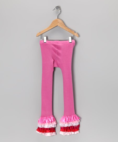 3f886d7f6f592 love this product Hot Pink Ruffle Leggings - Toddler & Girls