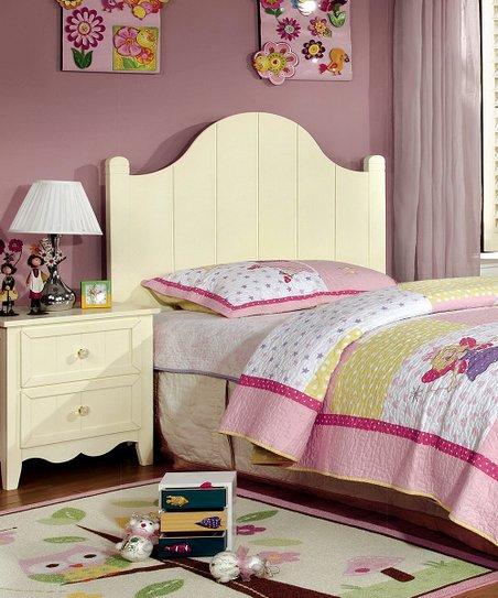 Serendipity Cream Cottage Style Four-Piece Bedroom Set