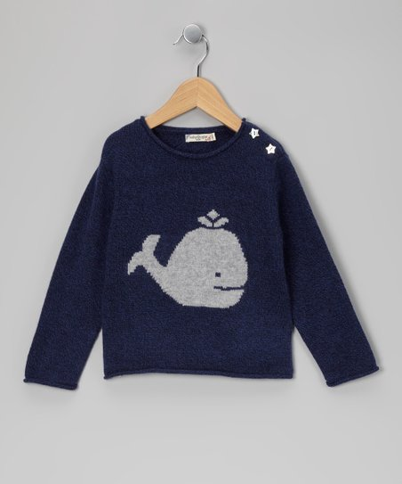1b9f0d05e baby taylor Navy Whale   Star Cashmere Sweater - Toddler   Kids