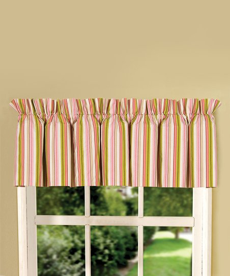 Love This Product Pink Green Stripe Valance
