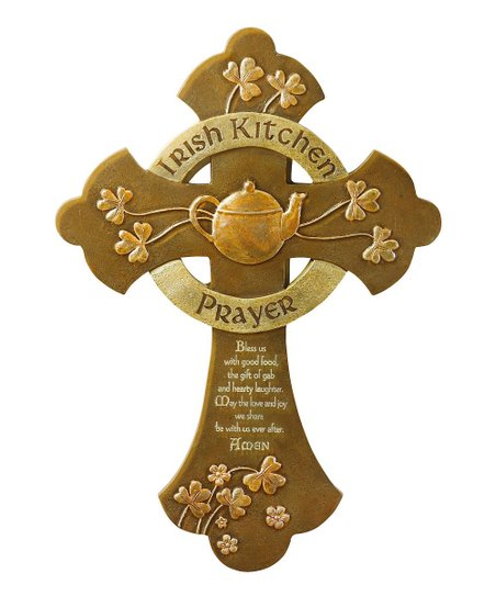 Ca Gift Irish Kitchen Prayer Cross Wall Art Zulily