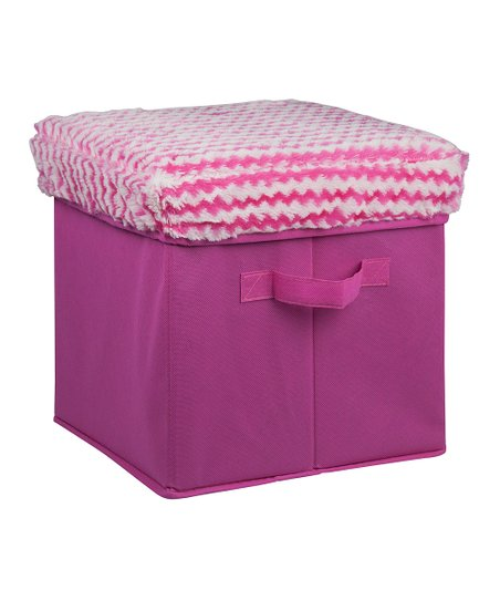 Fabulous Home Basics Pink Fuzzy Stripe Folding Storage Ottoman Unemploymentrelief Wooden Chair Designs For Living Room Unemploymentrelieforg