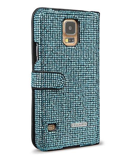 Cellairis Sky Blue Crystaria Wallet Case for Samsung Galaxy S5