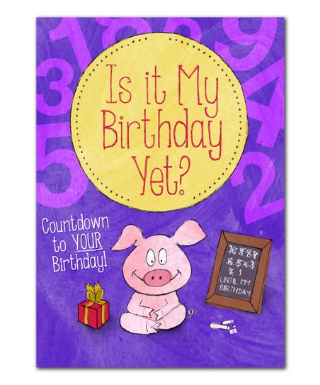 Birthday Countdown Personalized Book
