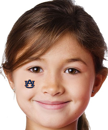 410964651 Game Faces Auburn Temporary Tattoo - Set of Four | Zulily