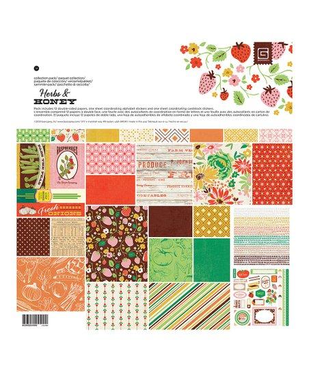 BasicGrey Herbs & Honey I Scrapbooking Set | Zulily