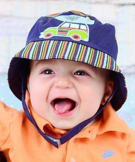 Jamie Rae Hats Navy Blue Woody Bucket Hat  e4b6113e3f01