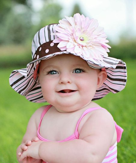 love this product Pink   Brown Dot   Daisy Sunhat - Infant 6ee07ff1e30b