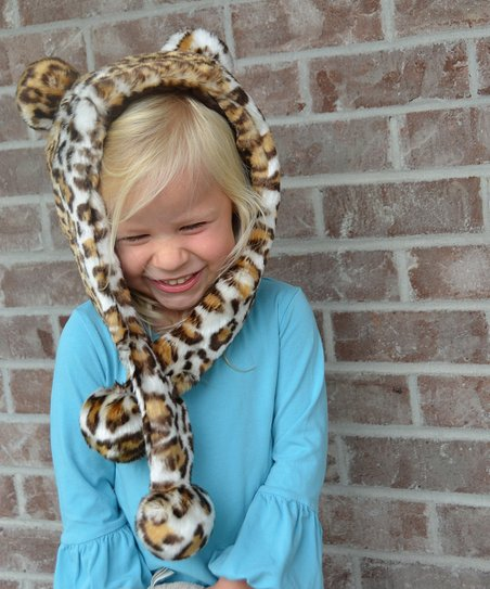 6eb478ed Lilly Patricia Brown Leopard Faux Fur Hat - Toddler & Girls | Zulily
