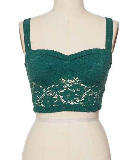 9ea39803fb8 Coveted Clothing Green Crochet Crop Top | Zulily