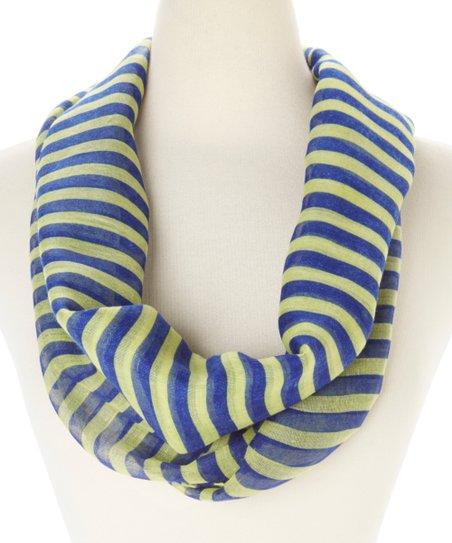 02ac1b76c59 The Magic Scarf Company Yellow Stripe Infinity Scarf