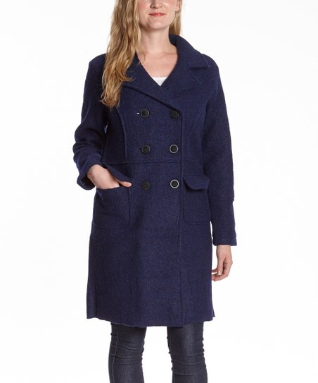 Navy Wool Peacoat