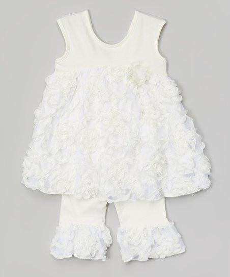 711c072e31c2 love this product Cream Pie Dress & Ruffle Leggings - Toddler & Girls