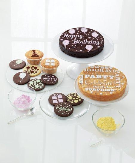 Incredible Martha Stewart Crafts Birthday Cake Cupcake Stencil Eight Pack Funny Birthday Cards Online Overcheapnameinfo