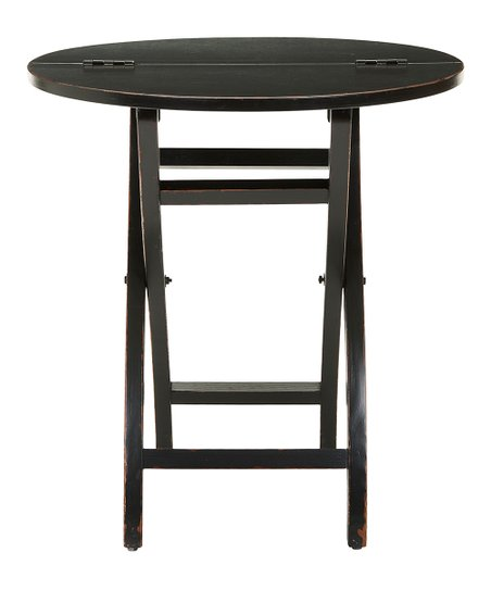 Safavieh Black Round Folding Side Table Zulily