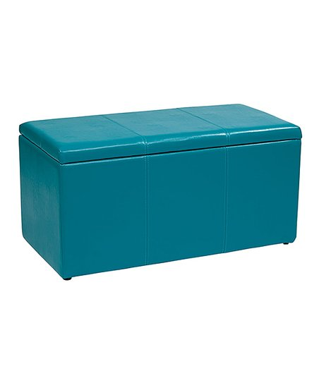 Enjoyable Avesix Blue Vinyl Storage Ottoman Zulily Gamerscity Chair Design For Home Gamerscityorg