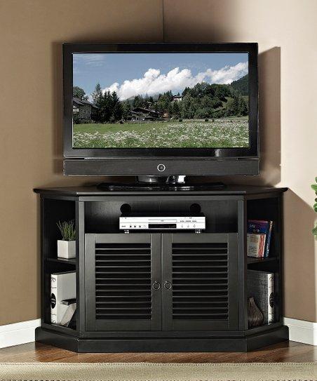 Walker Edison Black 52 Corner Tv Stand Zulily