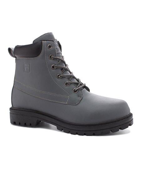 FILA Castle Rock & Black Edgewater 12 Hiking Boot Men Zulily  Zulily