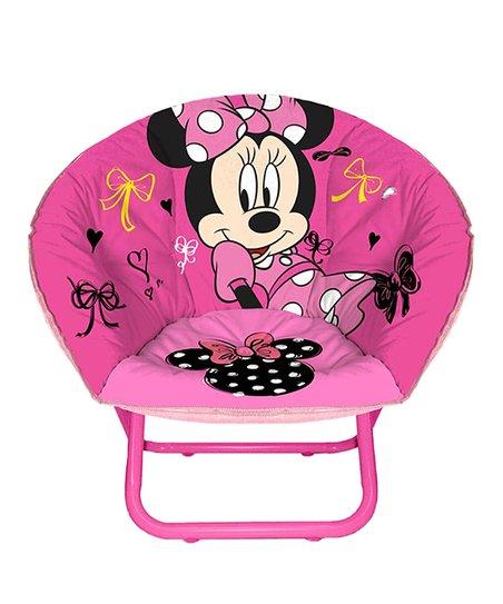 Fine Minnie Mouse Toddler Saucer Chair Customarchery Wood Chair Design Ideas Customarcherynet
