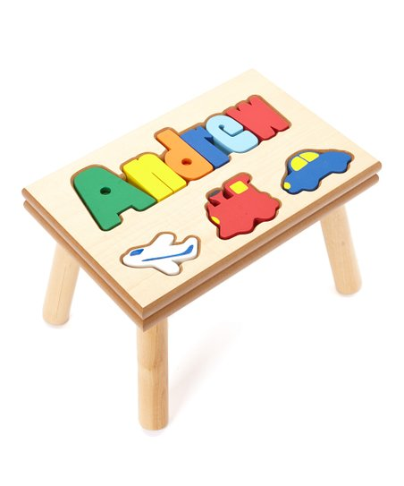 Enjoyable Whittle Kids Gifts Transportation Personalized Puzzle Step Onthecornerstone Fun Painted Chair Ideas Images Onthecornerstoneorg