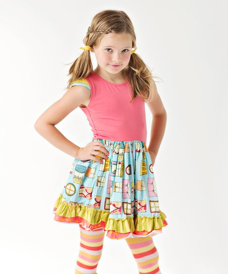 Matilda Jane Clothing Pink Symons General Store Dress Girls Best Price And Reviews Zulily