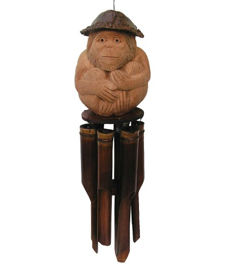 Cohasset Gifts & Garden Monkey Bamboo Wind Chime