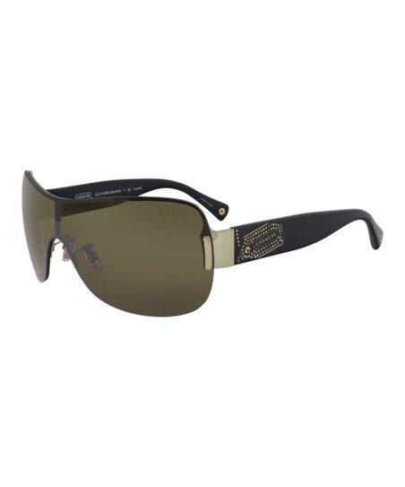 fc4fd88e56f Coach Gold   Black Daniella Polarized Sunglasses