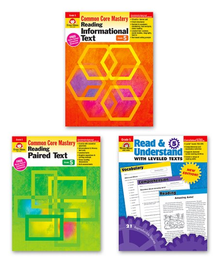 Evan Moor Educational Publishers Grade 5 Common Core Reading Set